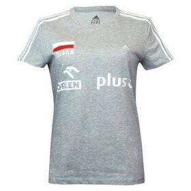 adidas  Ess 3S Tee  women's T shirt in Grey