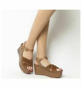 Office Madrid Whip Stitch Wedge TAN SUEDE