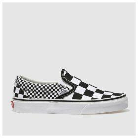 Vans Black & White Classic Slip-on Mix Checker Trainers