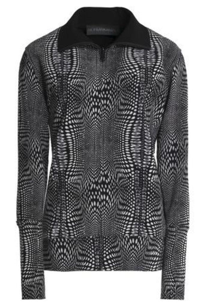 Norma Kamali Woman Printed Woven Jacket Black Size M