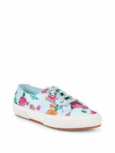 Floral Low-Top Sneakers