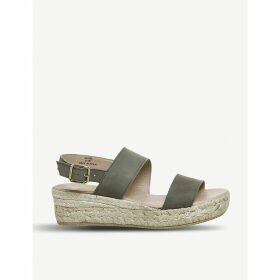 Ig3 leather flatform espadrille sandals