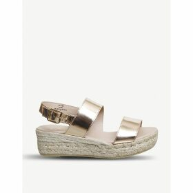 Ig3 metallic leather flatform sandals