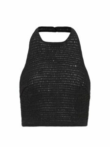 Balenciaga - Perforated Neoprene Top - Womens - Light Yellow