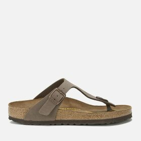 Birkenstock Women's Gizeh Toe-Post Leather Sandals - Mocha - EU 41/UK 7.5