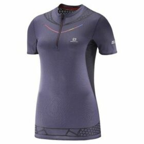 Salomon  Slab Exo HZ Tee W  women's T shirt in Purple