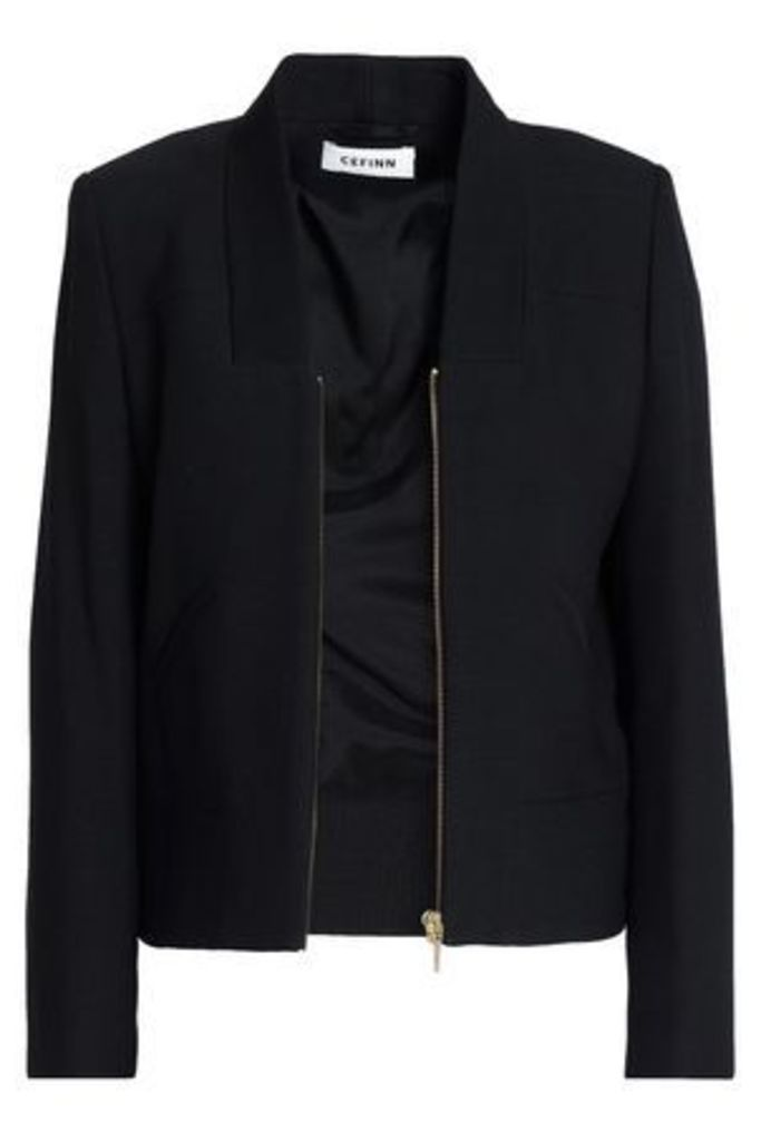 Cefinn Woman Canvas Jacket Black Size 6