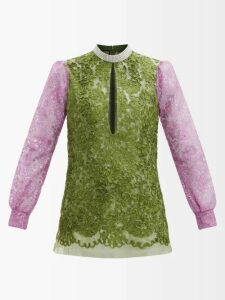 Emilia Wickstead - Leslie Floral-print Cotton Shorts - Womens - Yellow Print