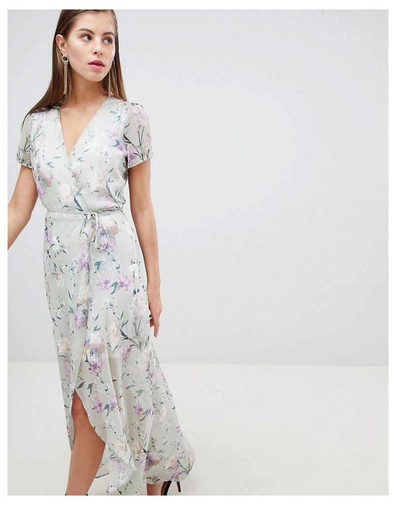 Hope & Ivy Floral Wrap Dress - Floral