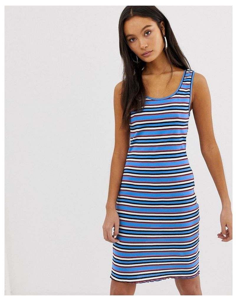 New Look Stripe Bodycon Dress - Blue pattern