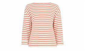 Breton Stripe Square Neck Top