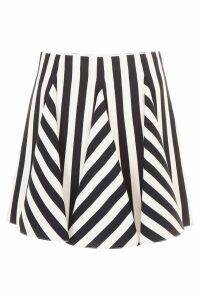 Valentino Striped Mini Skirt