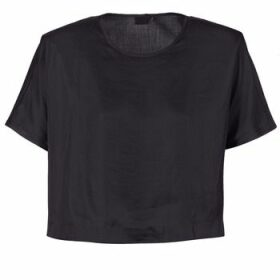G-Star Raw  COLLYDE WOVEN TEE  women's Blouse in Black