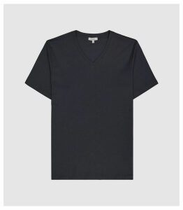 Reiss Dayton - V-neck T-shirt in Navy, Mens, Size XXL