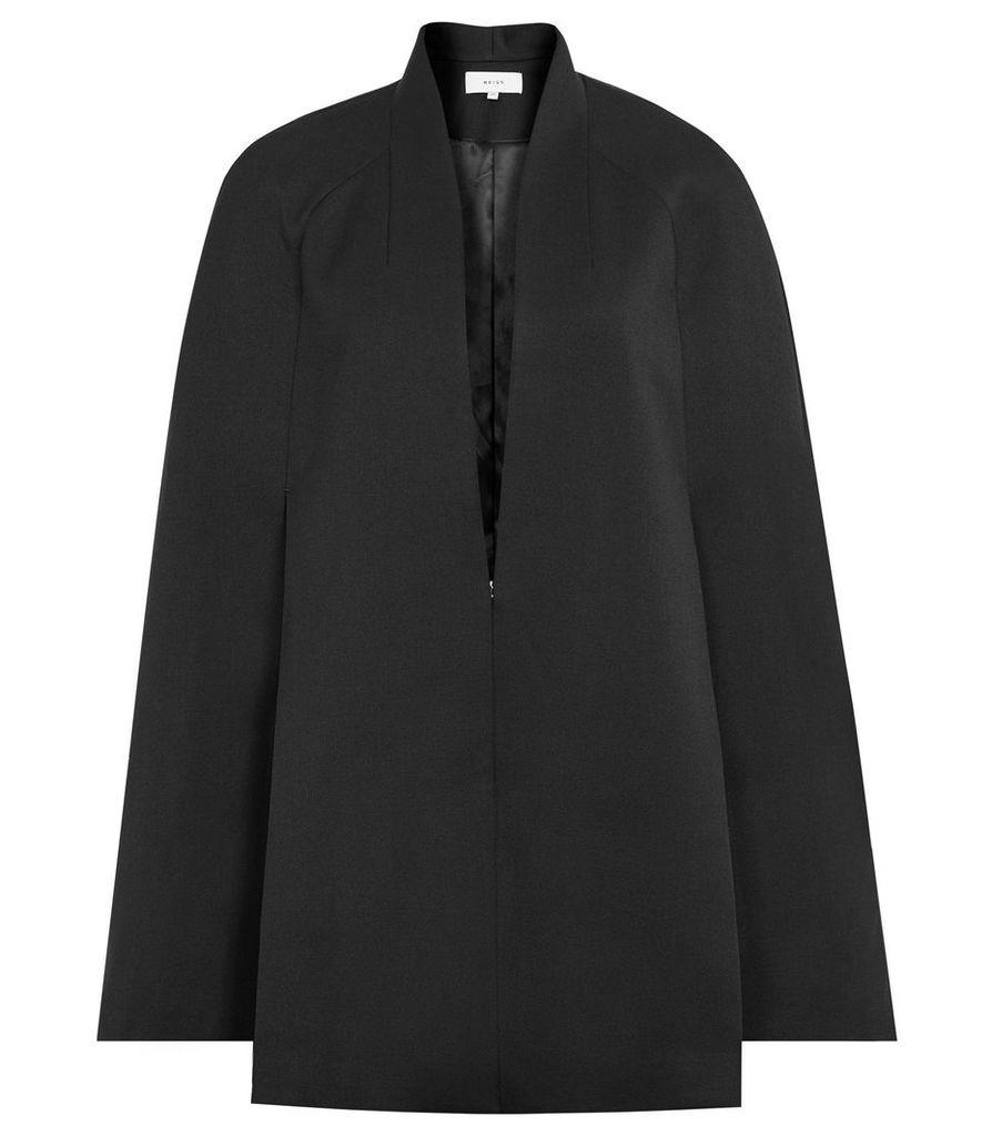 Reiss Tallis - Open-front Cape in Black, Womens, Size 14
