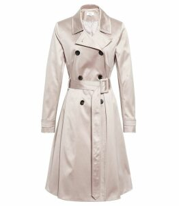 Reiss Hyde - Trench Coat in Husk, Womens, Size 14