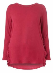 Womens **Juna Rose Curve Pink Loose Blouse, Pink