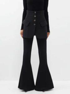 Balenciaga - Abstract Print Silk Blouse - Womens - Navy Print