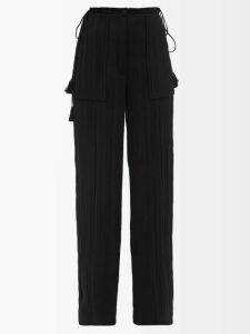 Staud - Coco Raffia-trimmed Linen Blend Top - Womens - Yellow