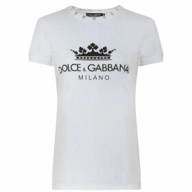 Dolce and Gabbana Logo Crown T Shirt