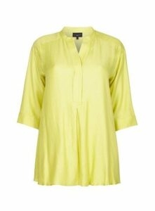 **Live Unlimited Green Chambray Blouse, Green