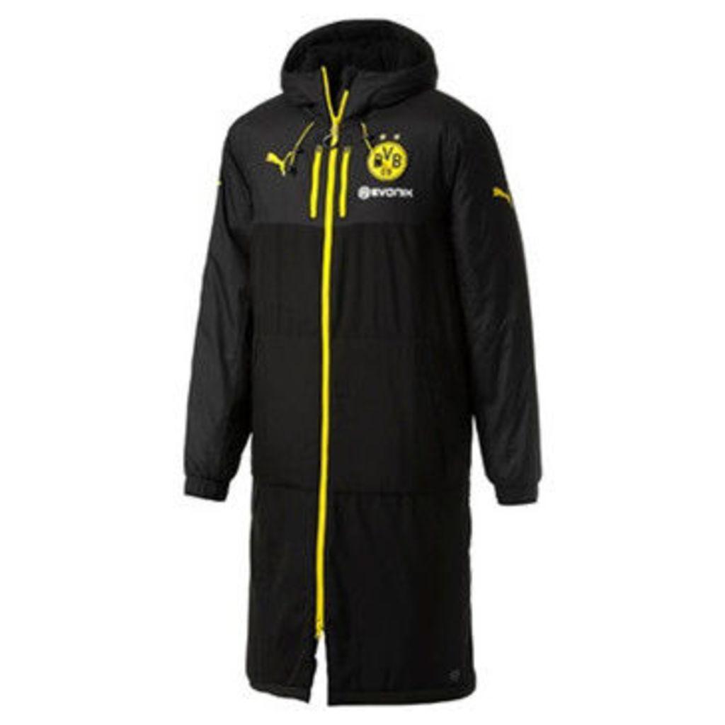 Puma  2017-2018 Borussia Dortmund Long Bench Jacket  women's Jacket in Black