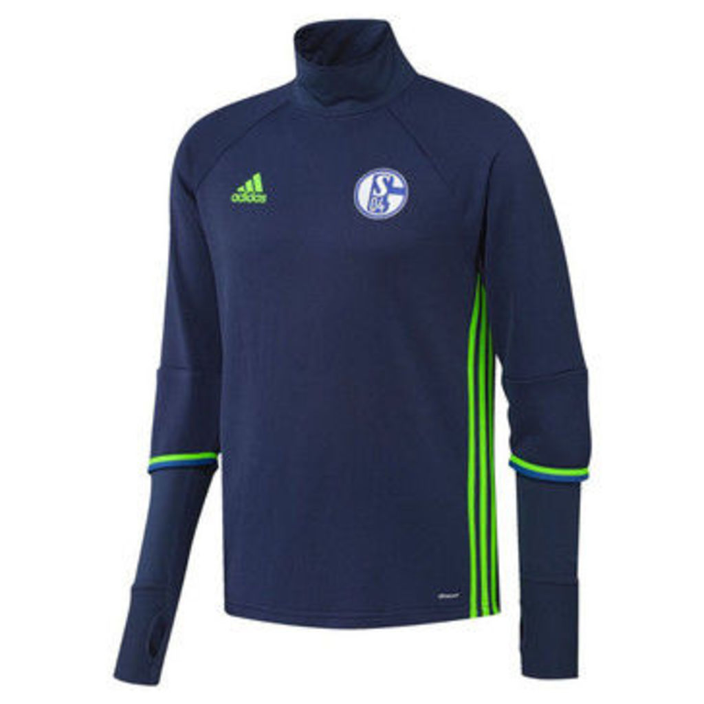 adidas  2016-2017 Schalke Training Top (Dark)  women's Tracksuit jacket in Blue