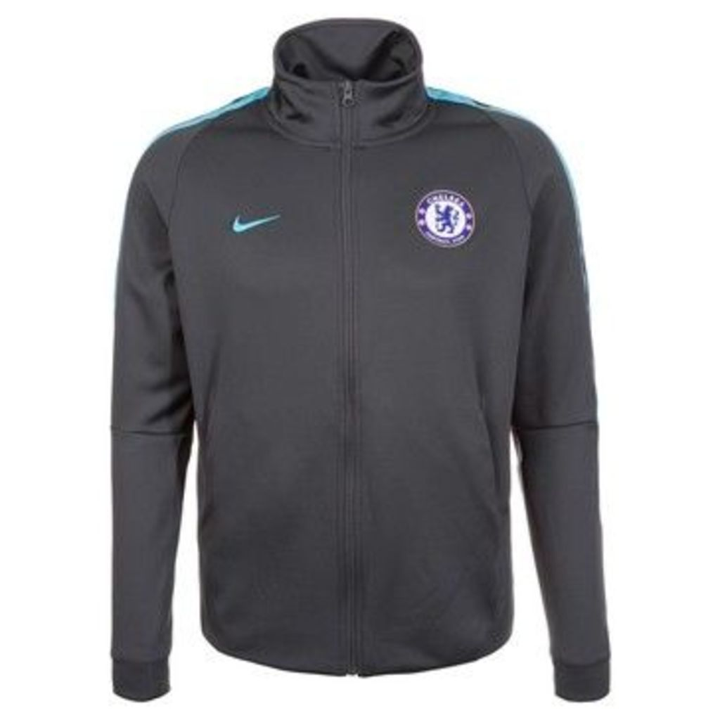 Nike  2017-2018 Chelsea Authentic Track Jacket (Anthracite)  women's Tracksuit jacket in Black