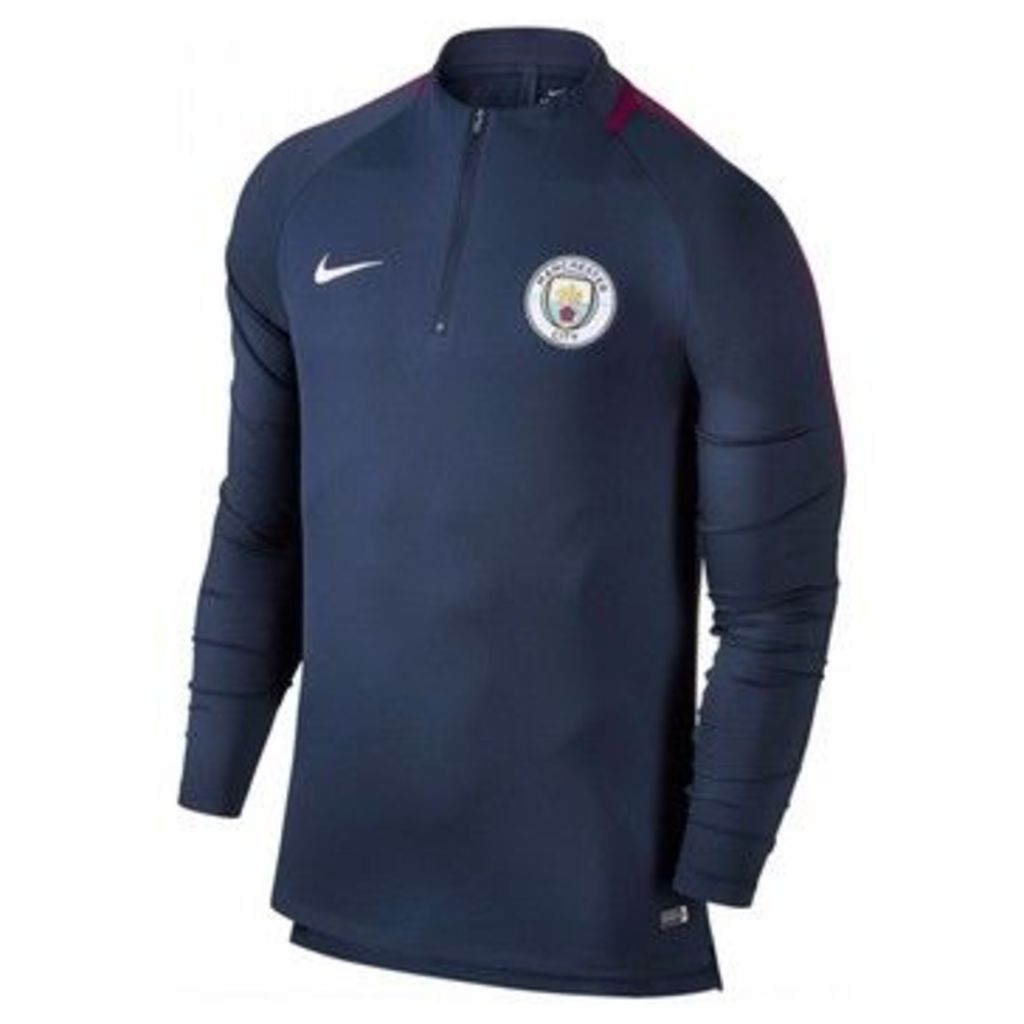 Nike  2017-2018 Man City Training Drill Top  women's Tracksuit jacket in Blue