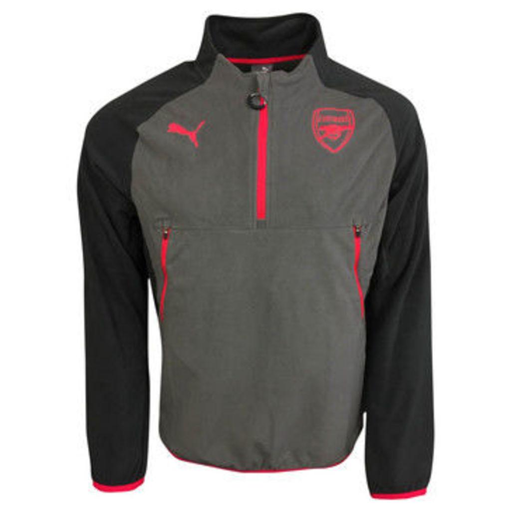 Puma  2017-2018 Arsenal Training Fleece (Steel)  women's Fleece jacket in Grey