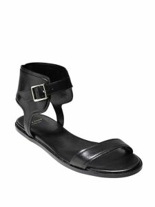 Barra Ankle Wrap Leather Sandals