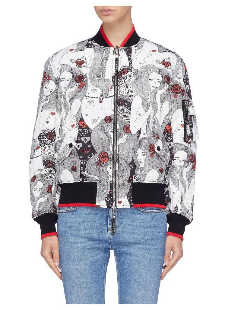 'Eve' print reversible bomber jacket