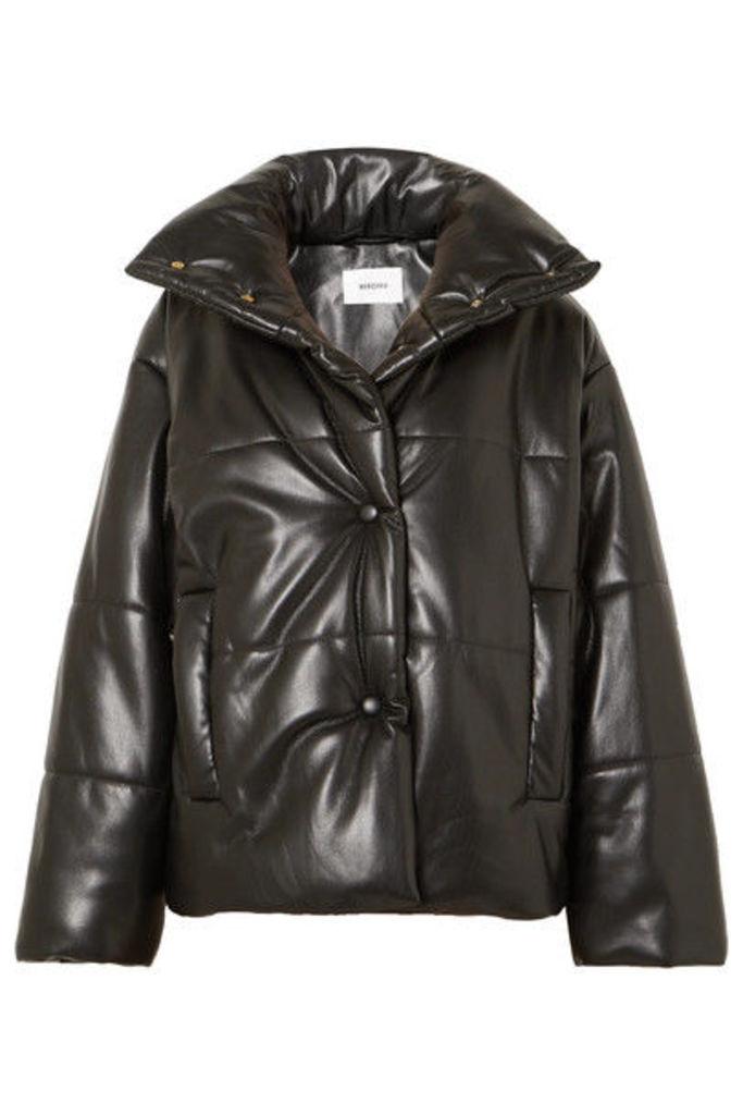 Nanushka - Hide Quilted Vegan Faux Leather Jacket - Black