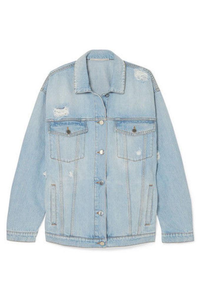 Stella McCartney - Oversized Distressed Denim Jacket - Blue