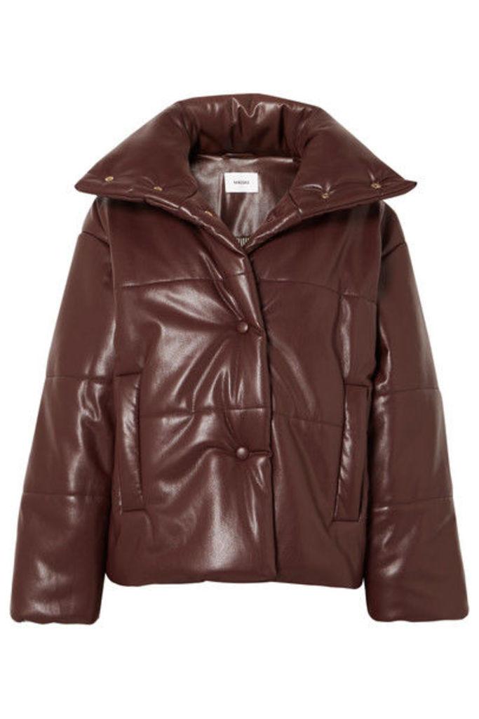 Nanushka - Hide Oversized Quilted Vegan Faux Leather Jacket - Plum