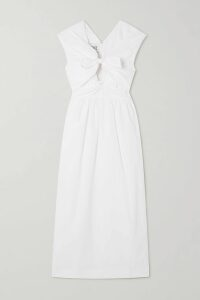 Monique Lhuillier - Off-the-shoulder Satin Gown - Navy