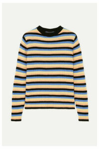 The Elder Statesman - Striped Cashmere Sweater - Black