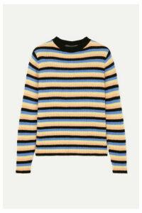 The Elder Statesman - Striped Cashmere Sweater - Black
