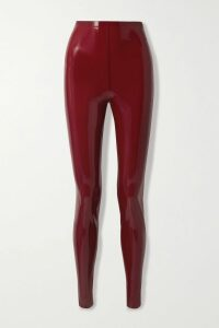 Miu Miu - Oversized Striped Mohair-blend Sweater - Lilac