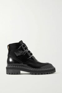 Balenciaga - Jersey And Striped Cotton-poplin Shirt - Burgundy