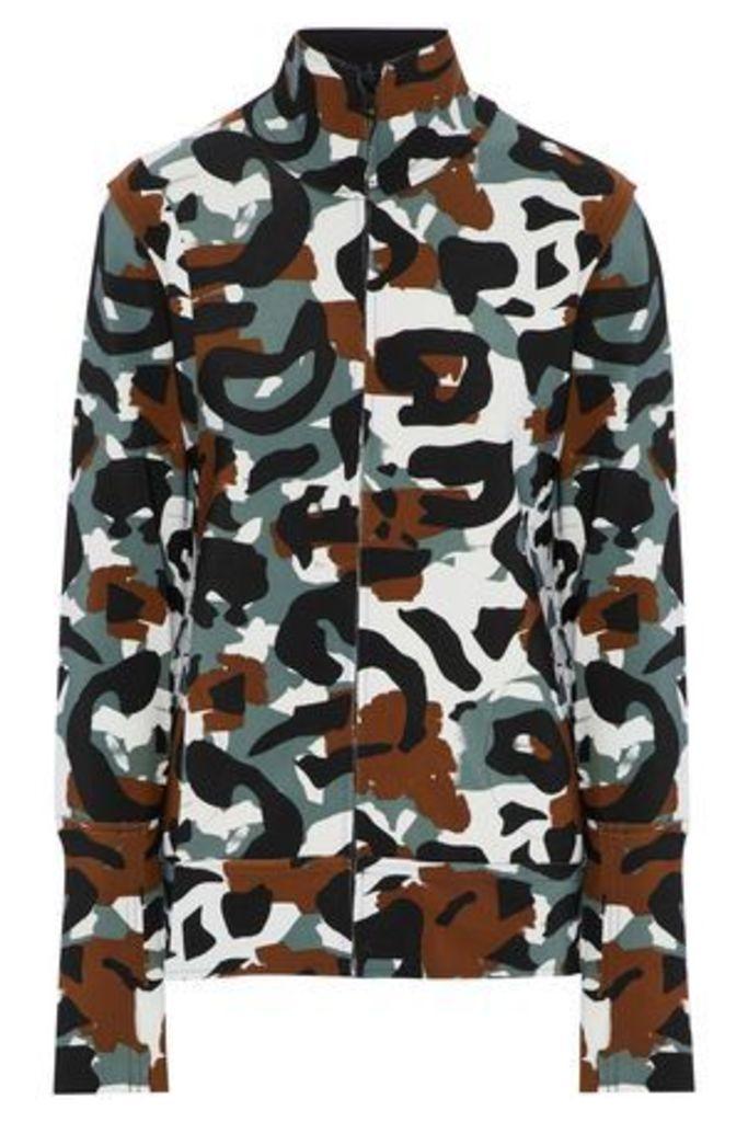 Norma Kamali Woman Printed Scuba Jacket Multicolor Size M