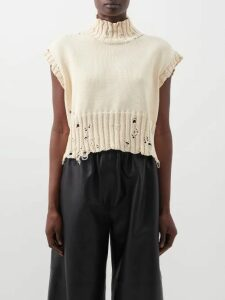 Erdem - Sandra Floral Embroidered Organza Gown - Womens - White Multi