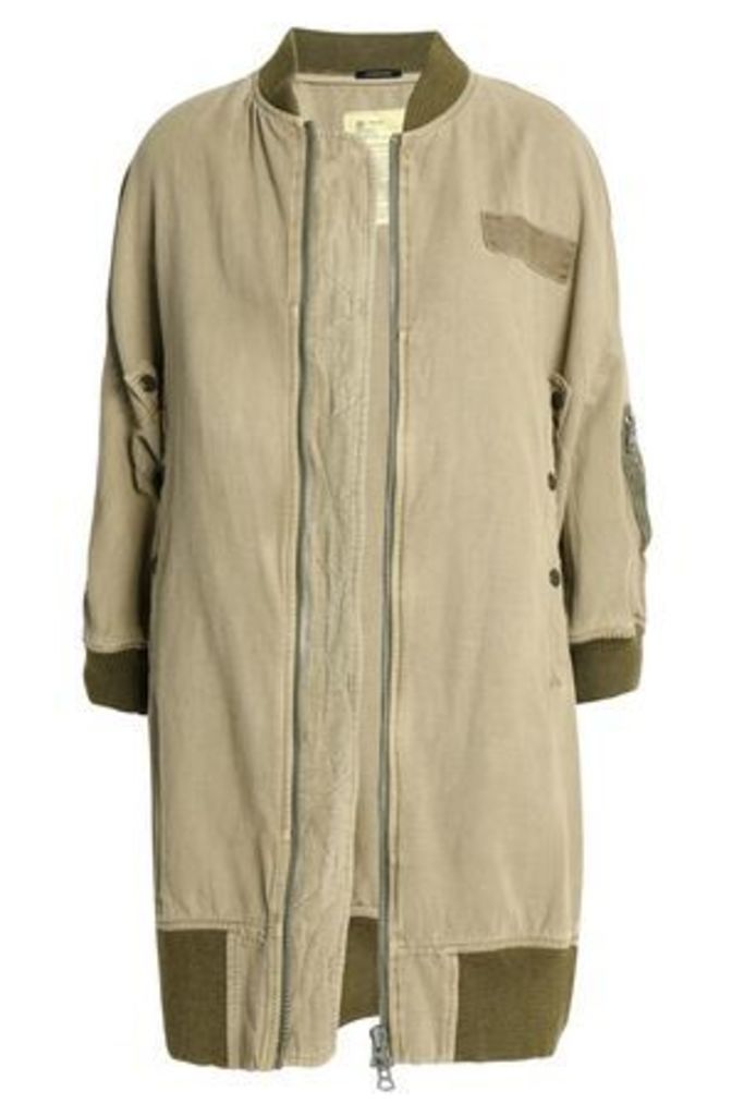 R13 Woman Cotton And Hemp-blend Jacket Sage Green Size XS
