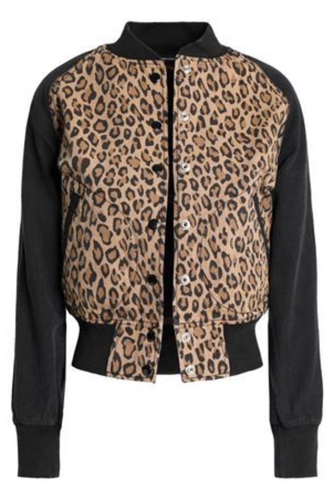 R13 Woman Leopard-print Cotton-canvas Bomber Jacket Animal Print Size M