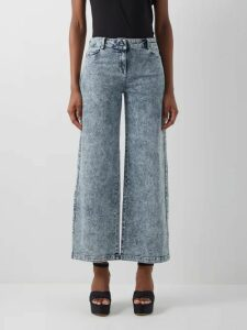 Fendi - Heart-embroidered Tie-neck Silk Shirt - Womens - Yellow