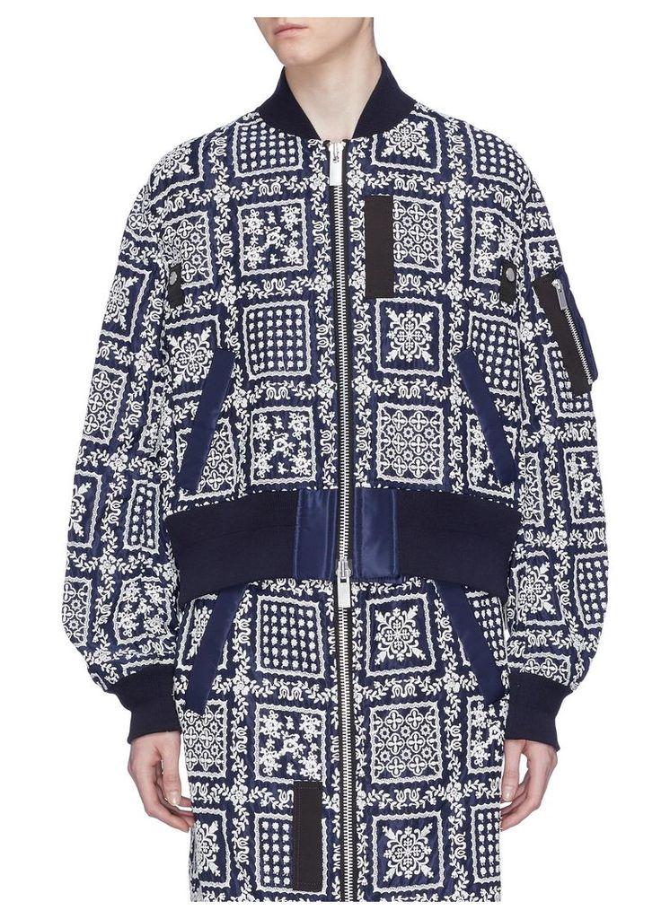 x Reyn Spooner floral embroidered bomber jacket