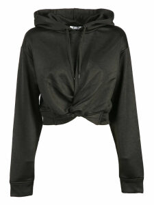 Alexander Wang French Terry Twist-front Hoodie