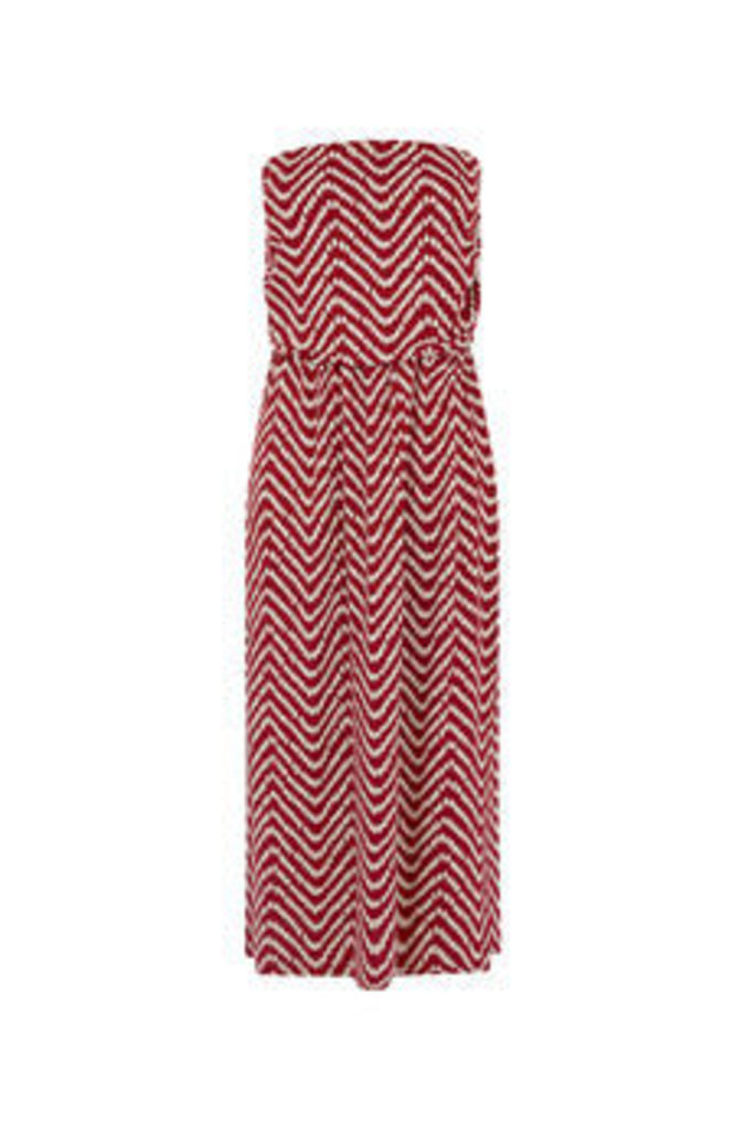SPOT WAVE BANDEAU DRESS
