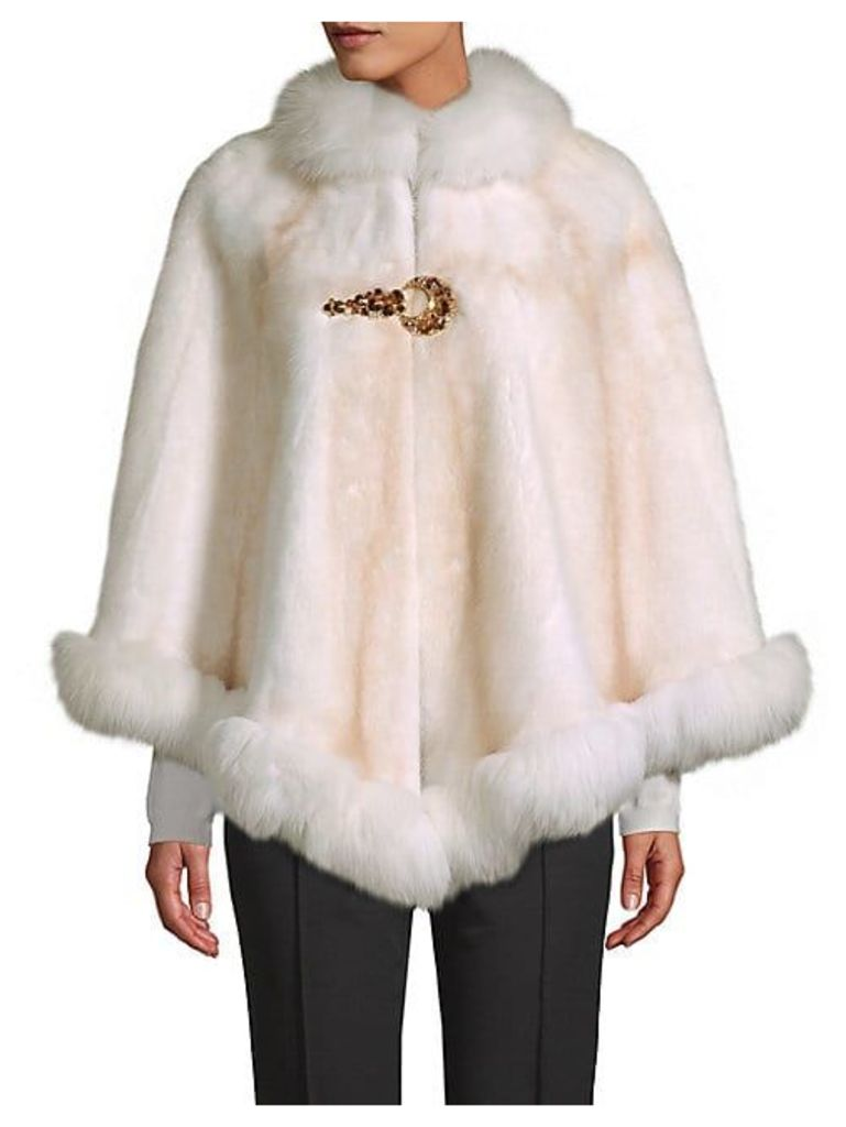 Made for Generations™ Natural Mink & Fox Fur Cape