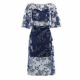 Sarvin - Doutzen Embroidered Lace Co-ord Midi Dress